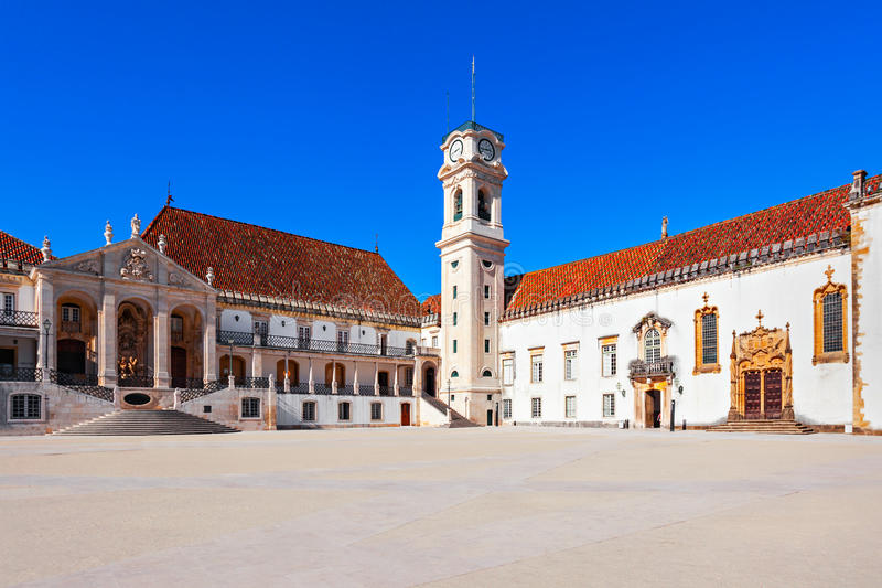 University of Coimbra. The University of Coimbra in Coimbra, Portugal stock images