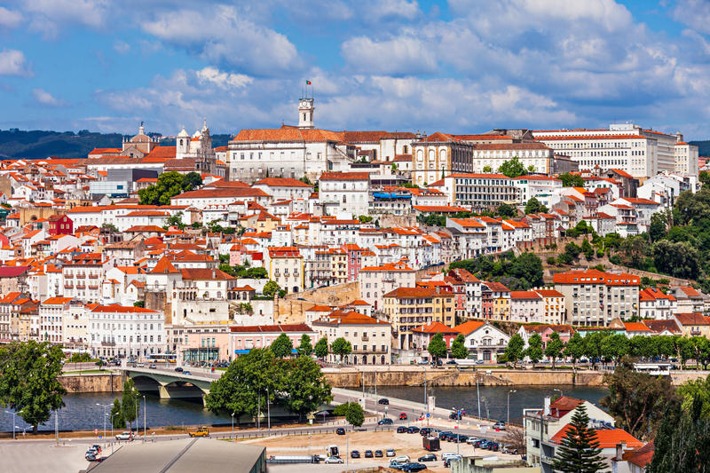 University of Coimbra. The University of Coimbra is a public university in Coimbra, Portugal. Established in 1290, it is one of the oldest universities in the royalty free stock images