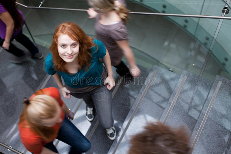 At the university/college royalty free stock image