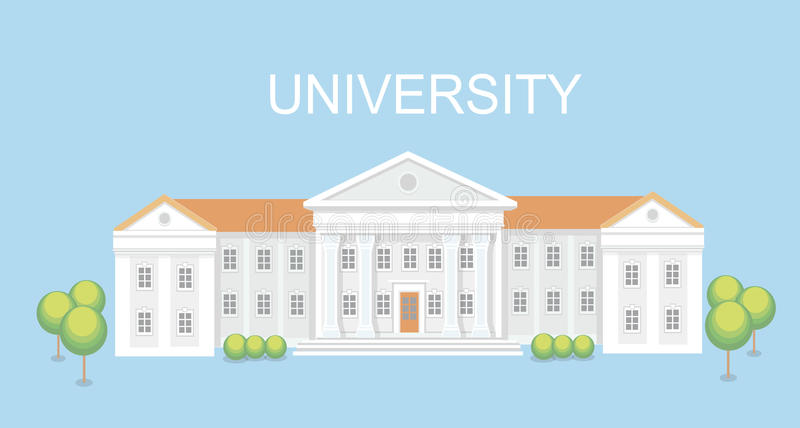 University or college building. Campus design, graduation university, vector. University or college building. Campus design, graduation university, school vector vector illustration