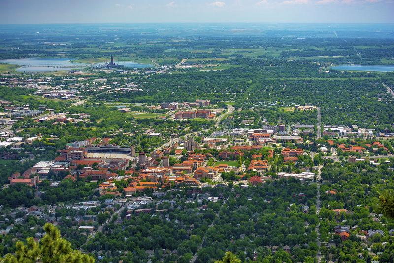 University of Colorado Boulder Campus on a Sunny Day.  royalty free stock image