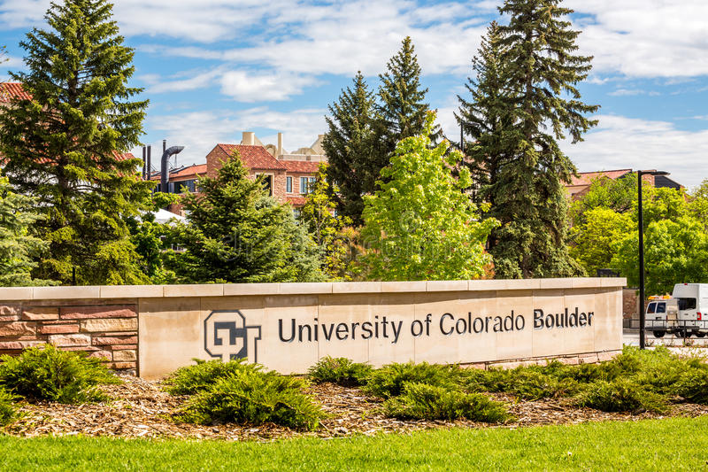 University of Colorado Boulder Sign royalty free stock image