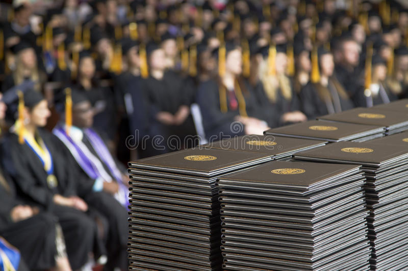 University Commencement. Commencement of of an American University stock image