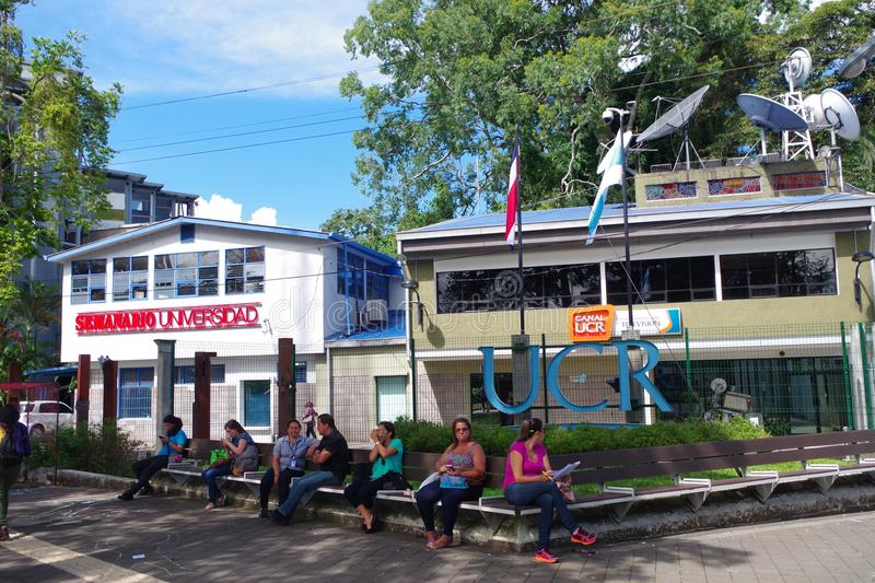 University of Costa Rica in San Jose, Costa Rica. Headquarters of University of Costa Rica`s newspaper: Semanario Universidad and Canal 15 channe at the stock images