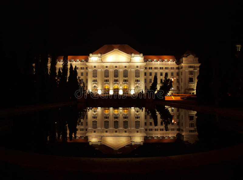 Download University Of Debrecen At Night Stock Image - Image: 16339013