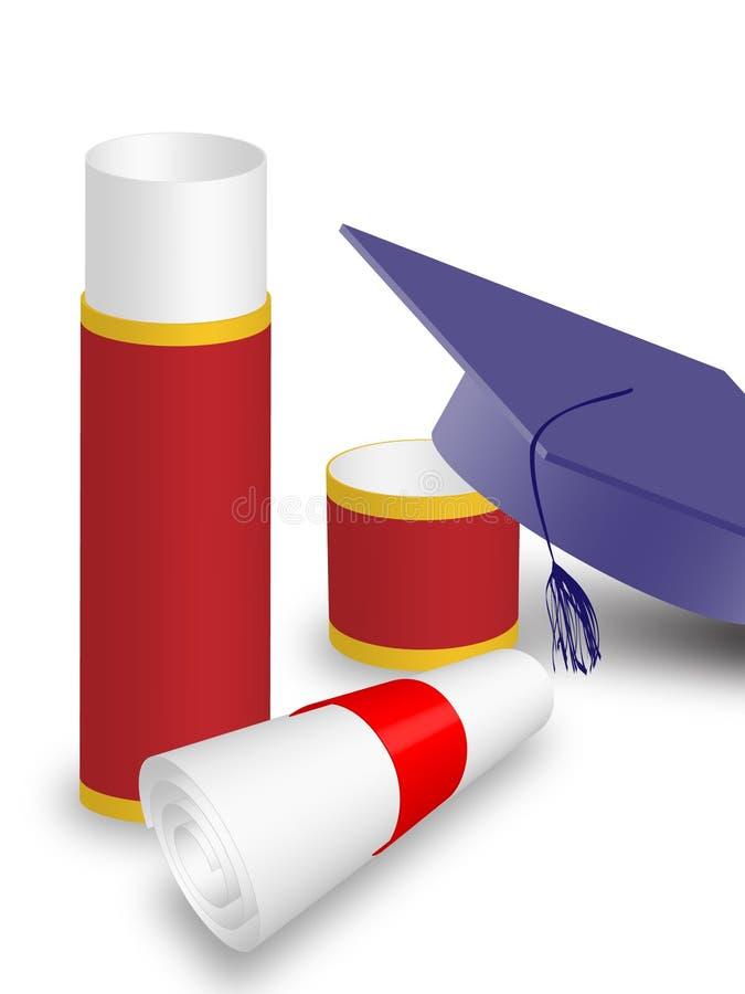 University diploma and graduation hat