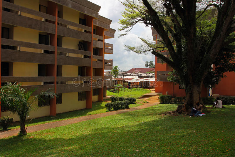 At the university of Douala, Cameroun royalty free stock image