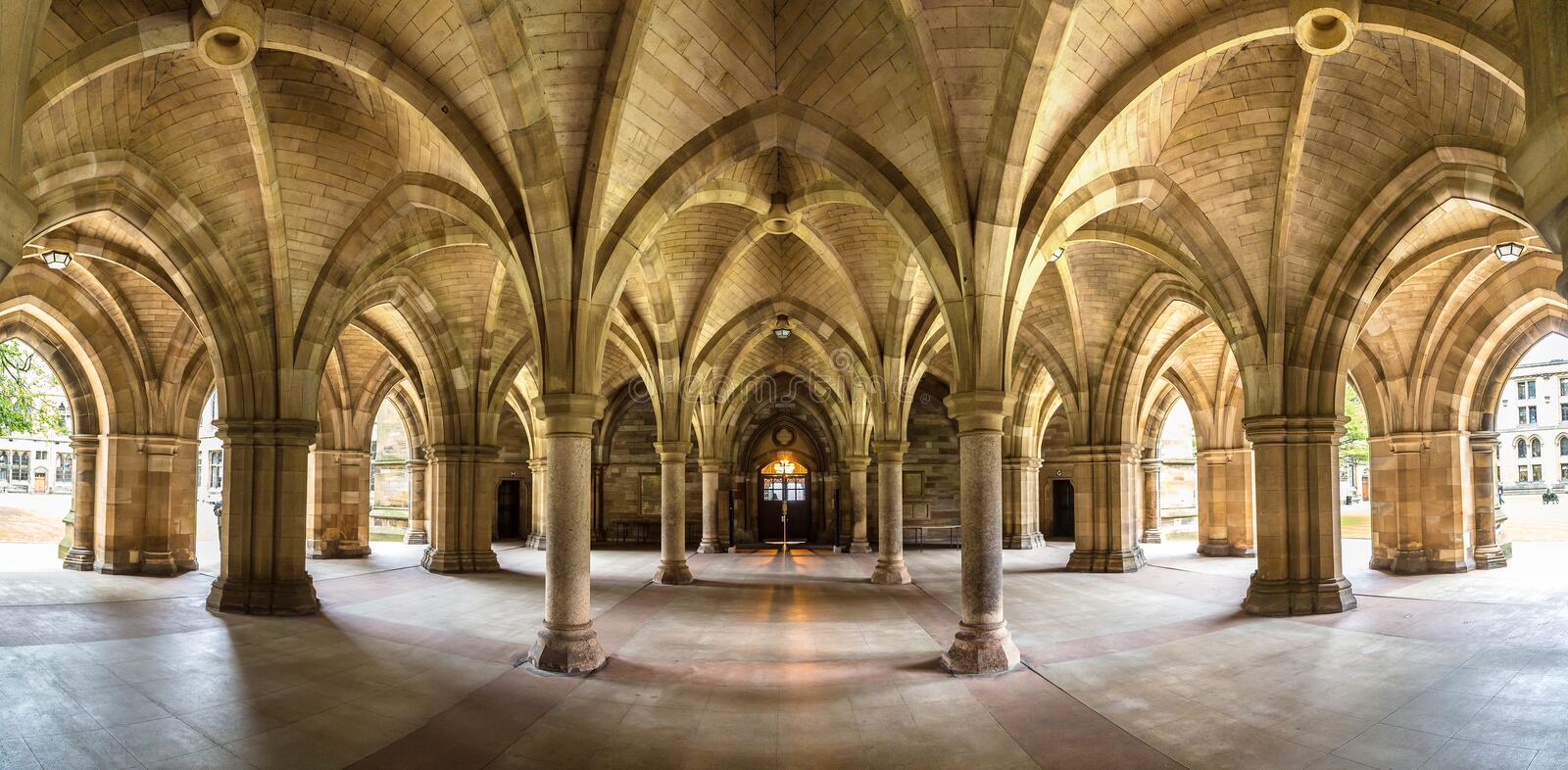 University of Glasgow Cloisters, Scotland royalty free stock images