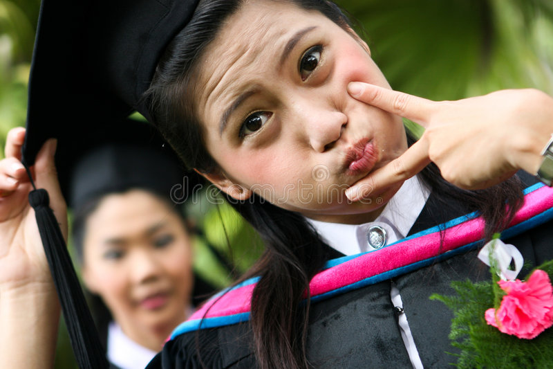 University graduates royalty free stock photos