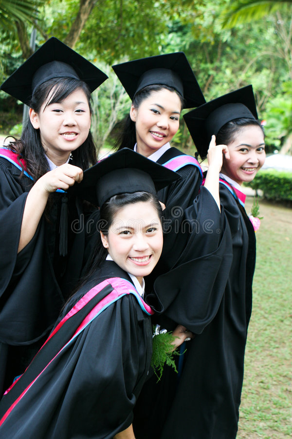 University graduates stock images