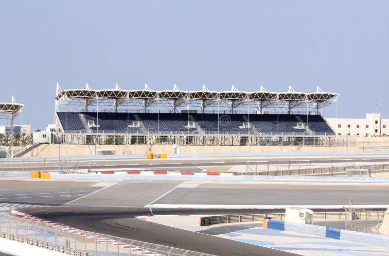 University Grandstand at BIC, Bahrain. SAKHIR, BAHRAIN-NOVEMBER 16: A view of University Grandstand at Bahrain International Circuit on November 16, 2012 in royalty free stock photography