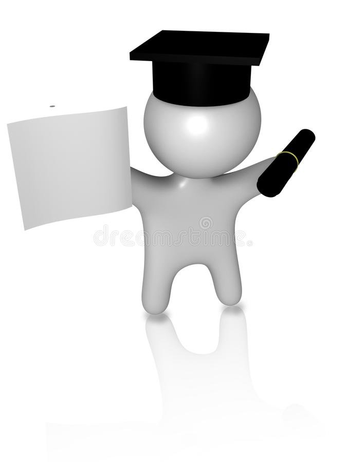 Download University guy 2 3d stock illustration. Illustration of textfield - 14933572
