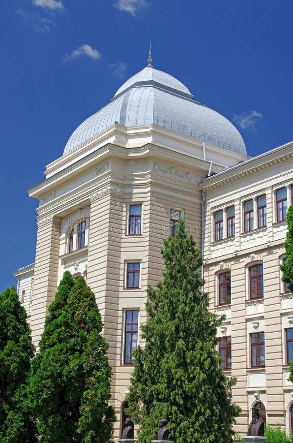 University of Iasi. Building, baroque and classic style, Romania stock photo
