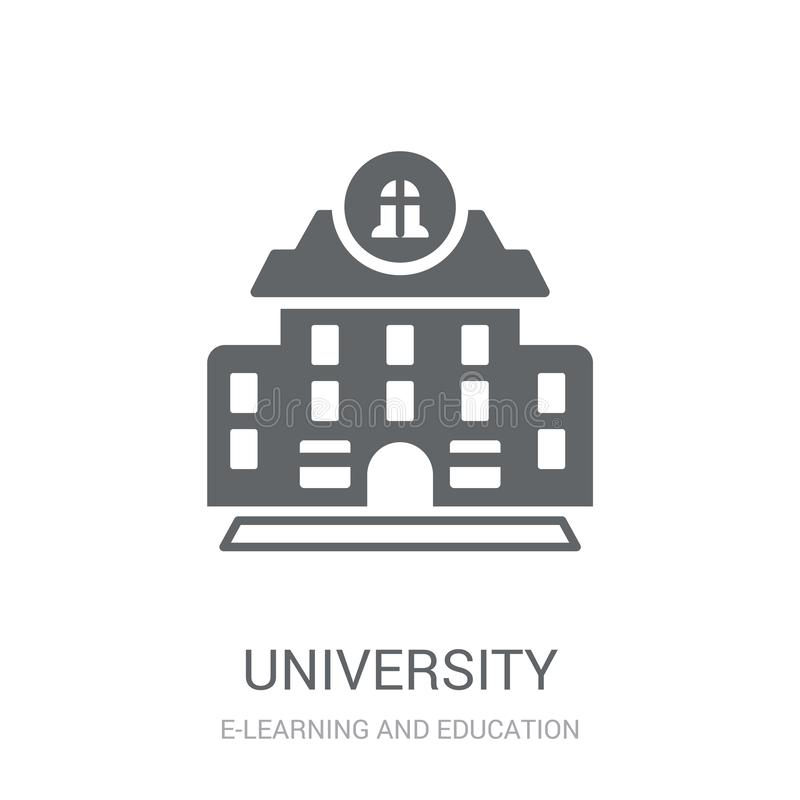 University icon. Trendy University logo concept on white background from E-learning and education collection royalty free illustration