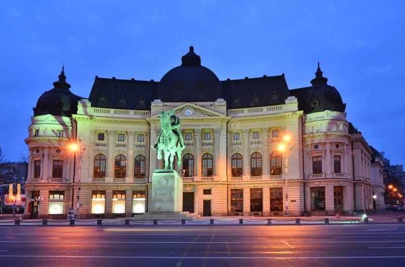 University Library, King Carol I, Bucharest royalty free stock photography
