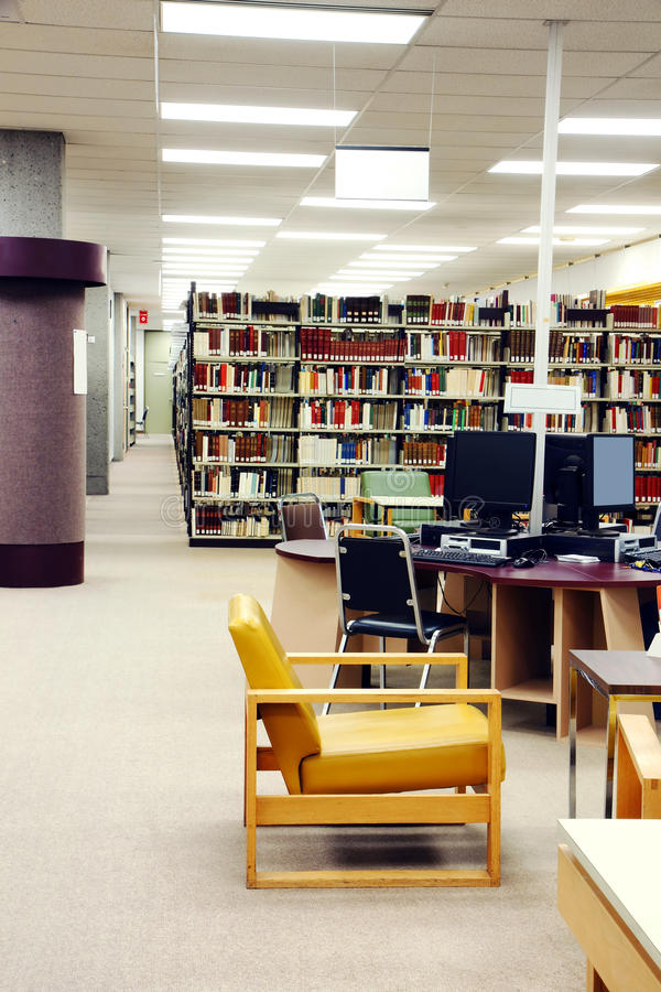 University Library Vertical Royalty Free Stock Images