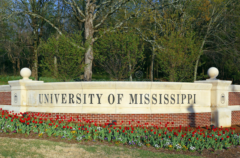 University of Mississippi royalty free stock photo