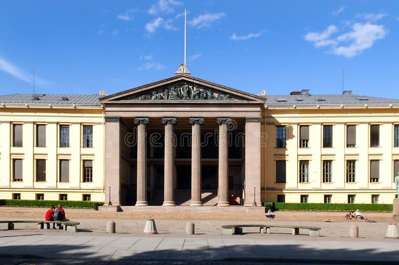 The University of Oslo. Oslo, Norway - May 27: the central building of the University of Oslo (Universitetet I Oslo), Norway, May 27, 2008 royalty free stock photos