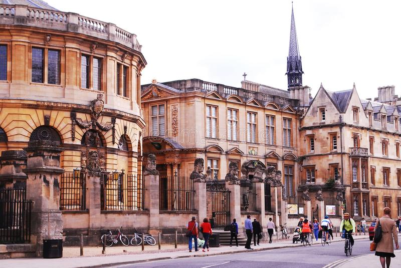 University of Oxford in United Kingdom royalty free stock photography