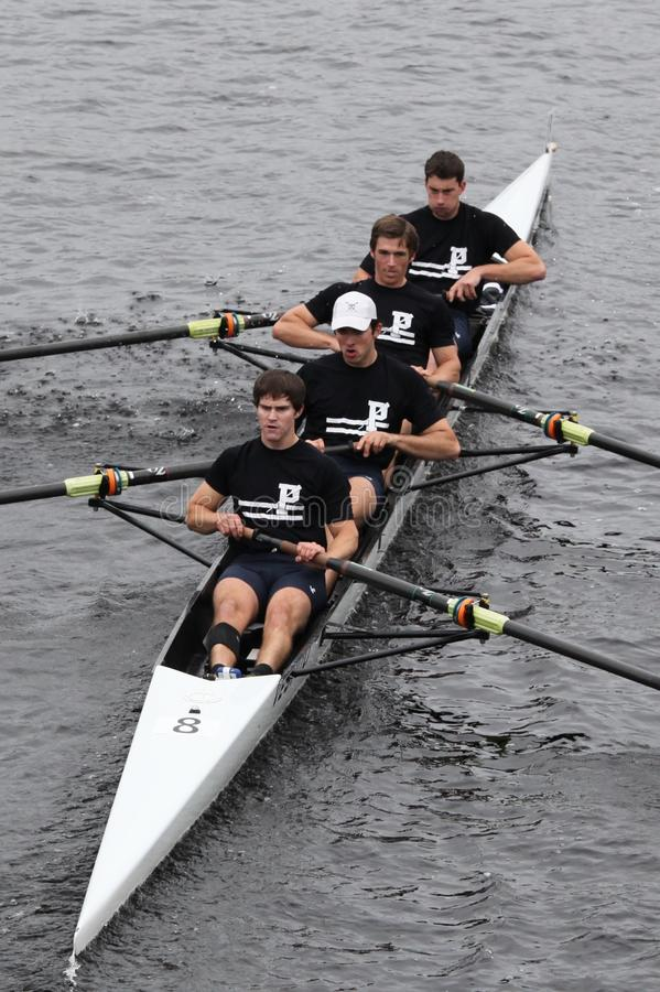 University Of Pennsylvania Crew Mens Fours Editorial Photography