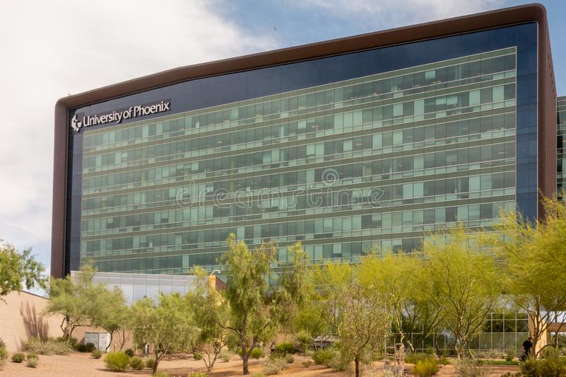 University of Phoenix. Phoenix,AZ/USA 6.25.19 University of Phoenix is a for-profit university headquartered in Phoenix, Arizona. Founded in 1976 stock photo