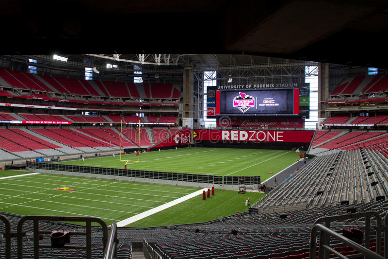 University of Phoenix Stadium d'Arizona Cardinals photographie stock libre de droits
