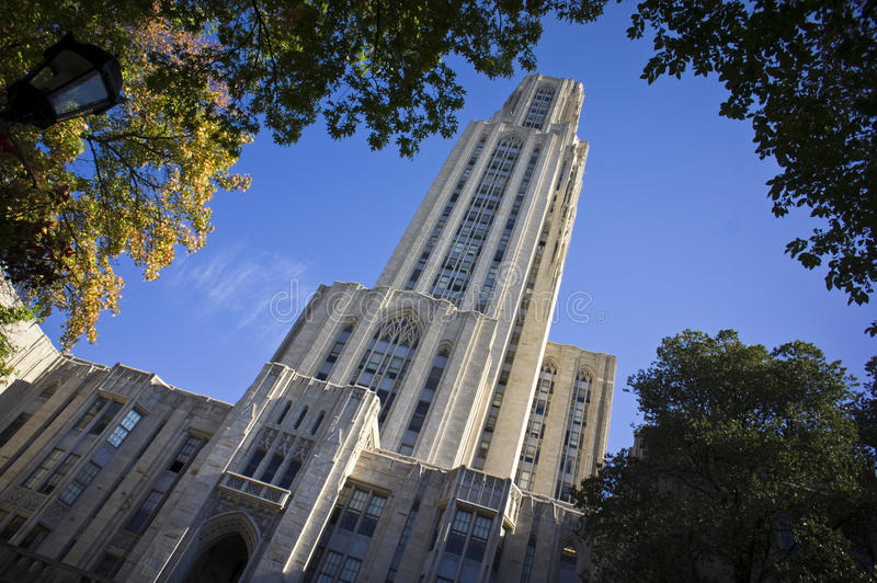 University of Pittsburgh Cathedral of Learning. Cathedral of Learning at the University of Pittsburgh - for any Pittsburgh college or education-related news royalty free stock photos