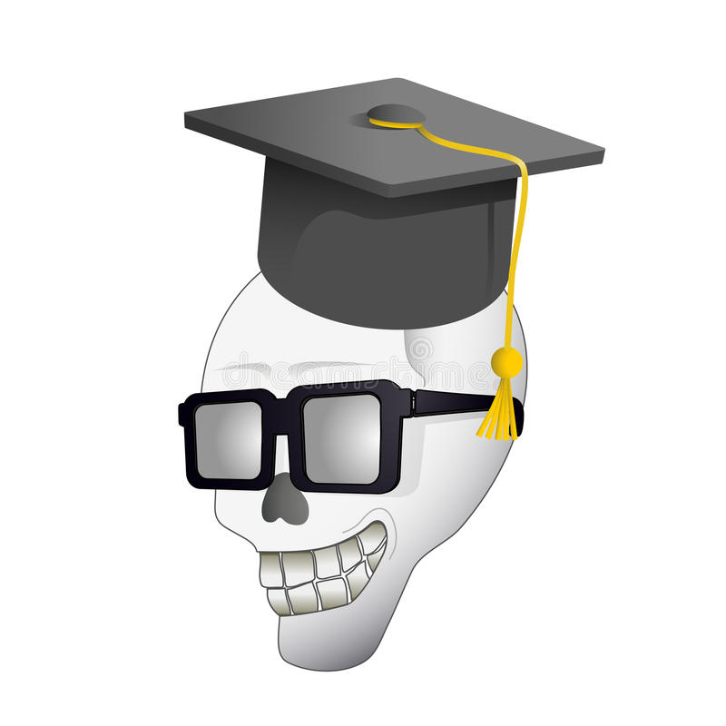 Download University skull stock vector. Image of bony, humor, dead - 21092778
