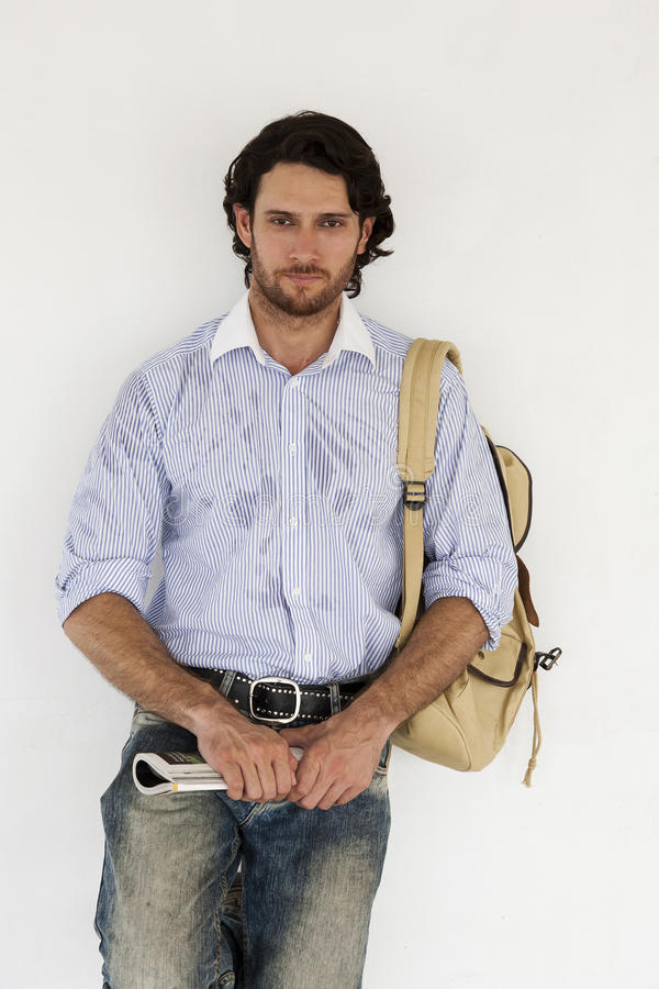 Download University student stock image. Image of holding, backpack - 21124521