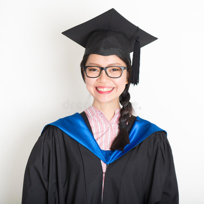 University Student In Graduation Gown Stock Photo - Image of ...