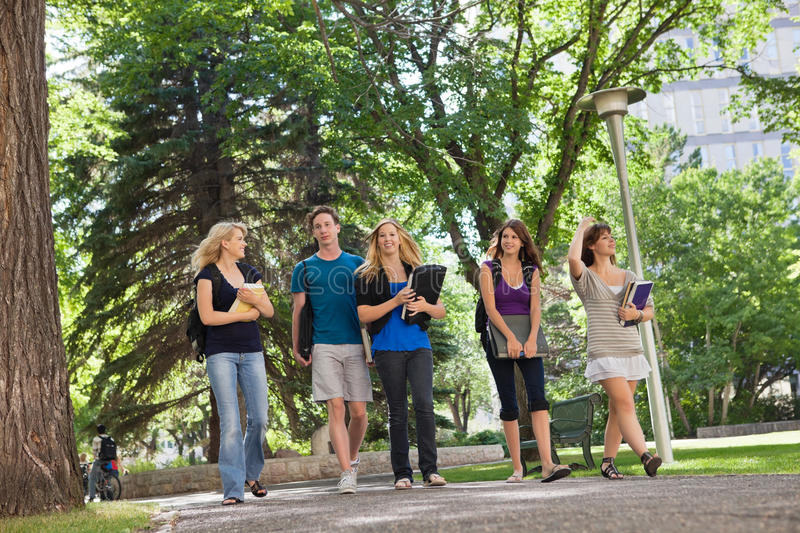 University Students on Campus stock photography