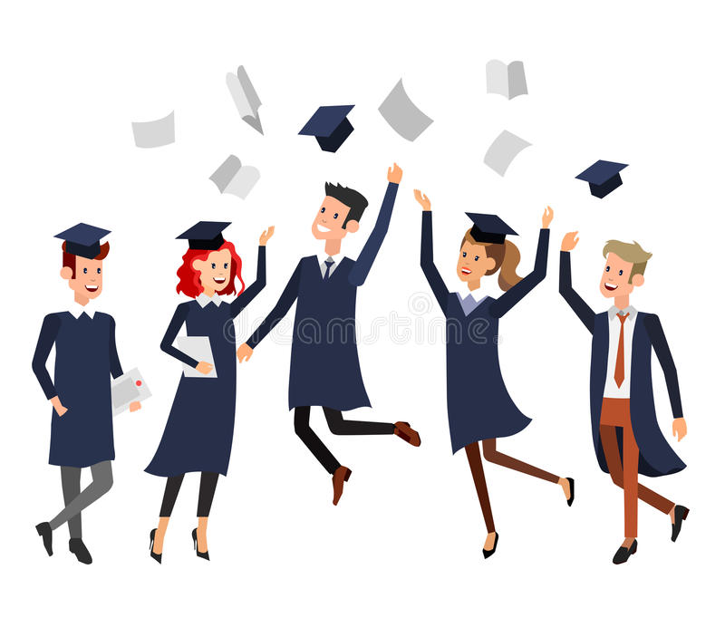 Character Design Courses University : University students graduation stock vector illustration