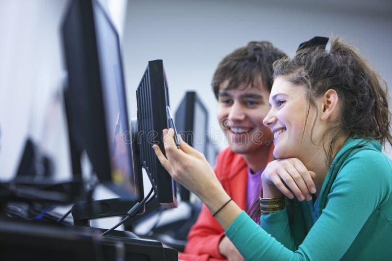 University Students Using Computers royalty free stock photo