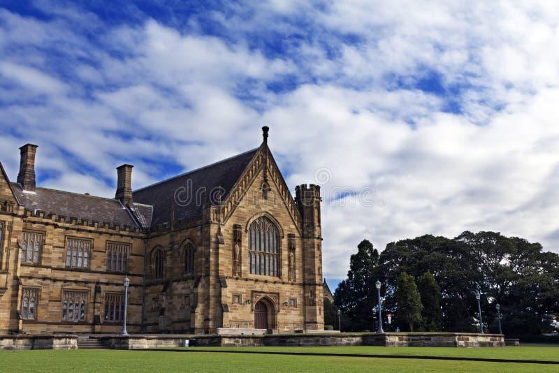 The University of Sydney, the Main Quadrangle. Gothic Revival style buildings of University of Sydney Quadrangle royalty free stock images