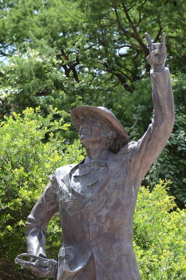 University of Texas Band Member Statue. On UT campus in Austin stock photo