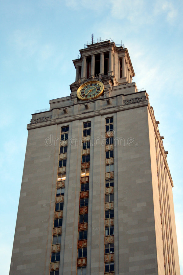 University of Texas Clock Tower stock image