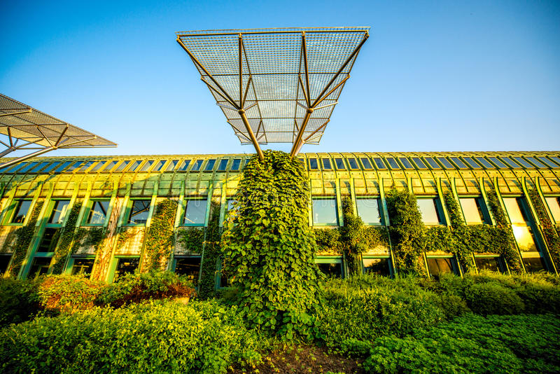 University of Warsaw library in Poland stock image