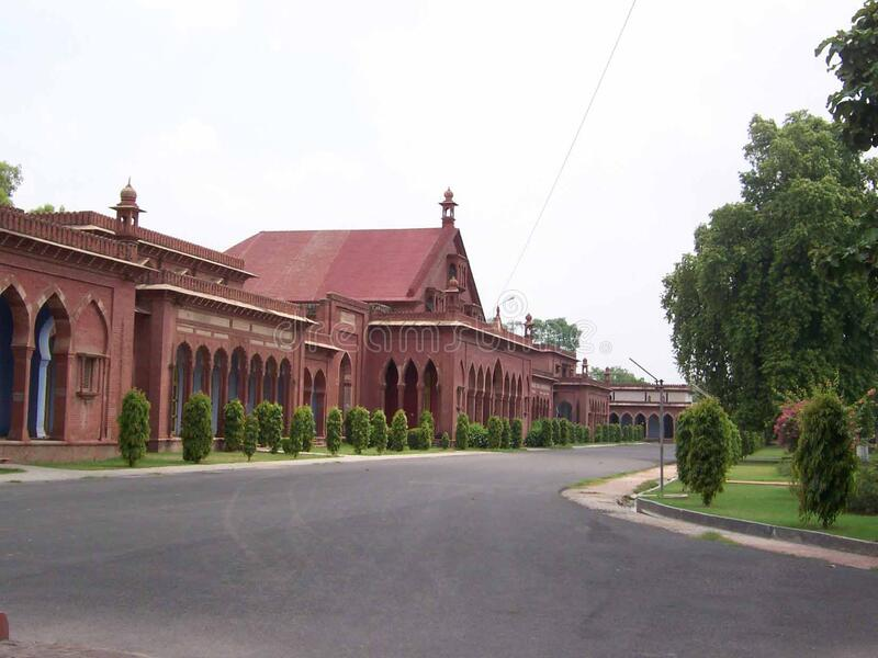 University Campus, Aligarh Muslim University, India. The university was established as the Muhammadan Anglo-Oriental College in 1875 by Sir Syed Ahmad Khan royalty free stock images