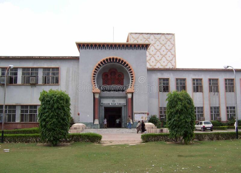 University Campus, Aligarh Muslim University, India. The university was established as the Muhammadan Anglo-Oriental College in 1875 by Sir Syed Ahmad Khan stock images