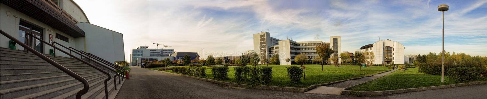 University of West Bohemia. Panorama of the campus of University of West Bohemia, Czech Republic stock photography