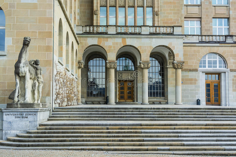 University of Zurich royalty free stock images