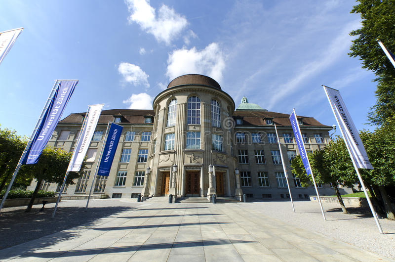 University of Zurich royalty free stock photos