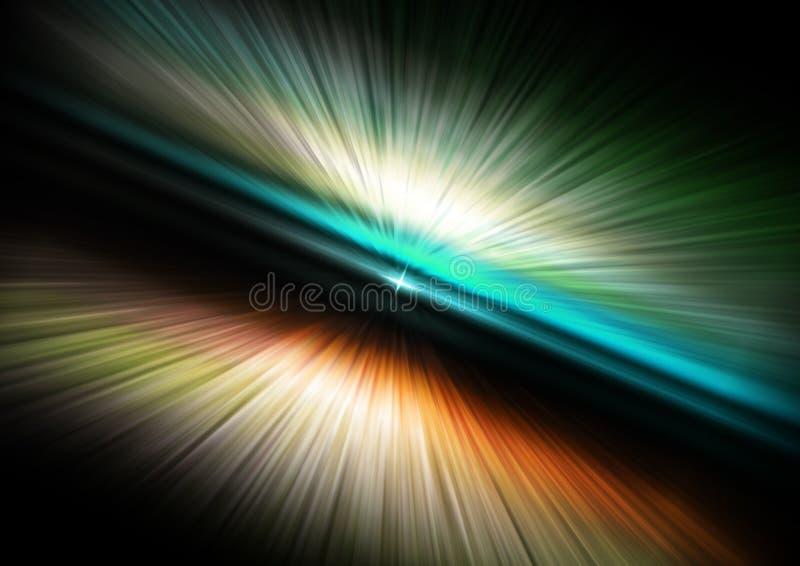 Universo abstrato do espaço da aura ilustração stock