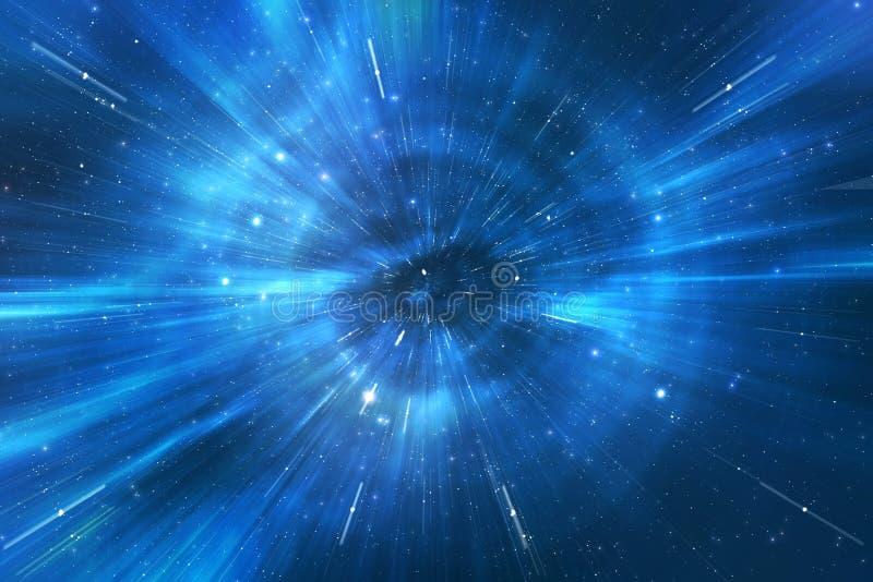 Universo del canal del recorrido de la deformación del espacio libre illustration