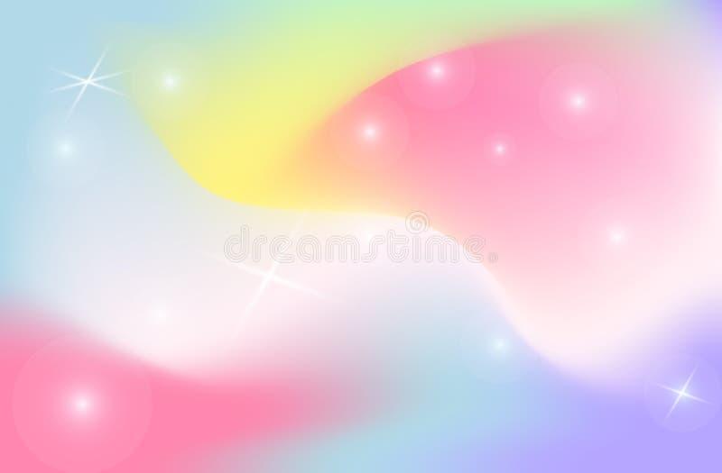 Universo del vector de la malla de la pendiente del color de fondo del contexto del unicornio ilustración del vector