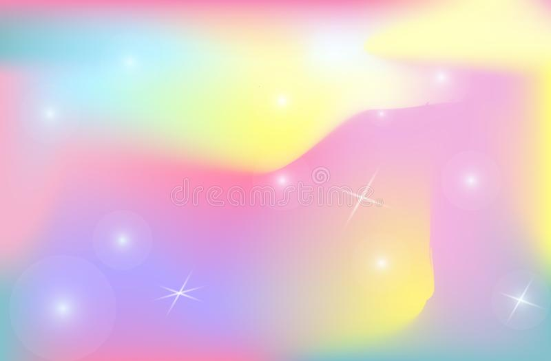 Universo di vettore della maglia di pendenza di colore del fondo del contesto dell'unicorno illustrazione vettoriale