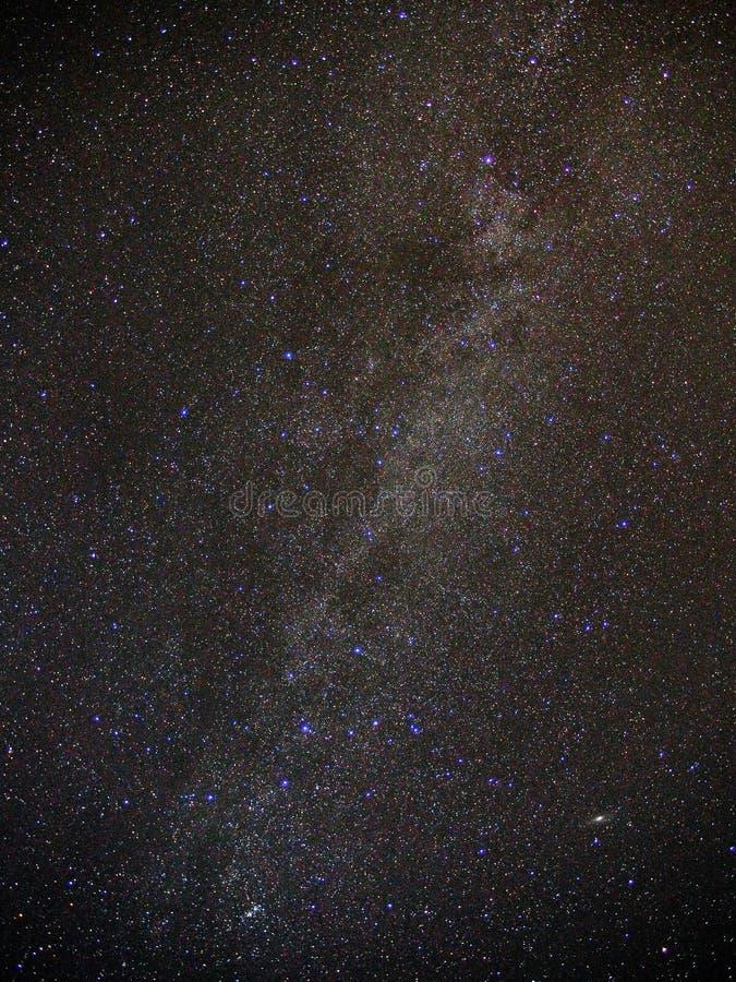 Universo e céu noturno das estrelas da Via Látea imagens de stock