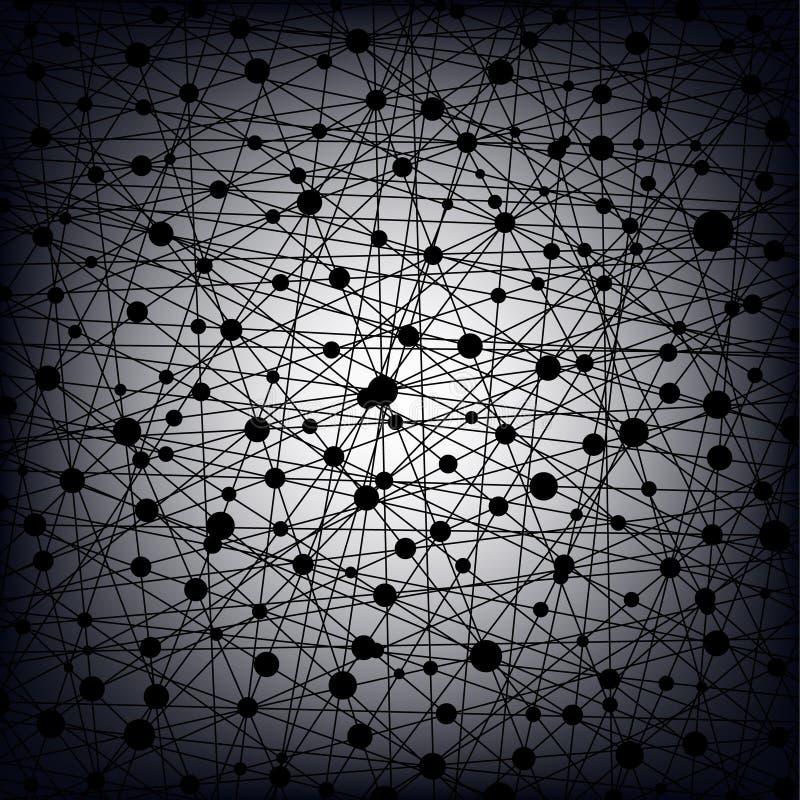 Universo, fundo abstrato ilustração stock