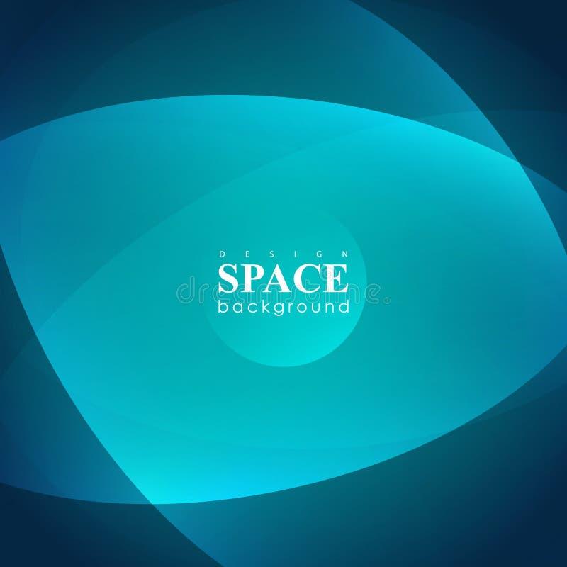 Universo hyperspace futurista abstracto en fondo azul stock de ilustración
