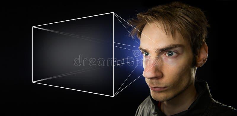 Universo olografico fotografie stock